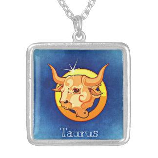 Colar do quadrado do zodíaco do Taurus