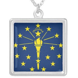 Colar elegante com a bandeira do Indiana