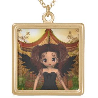 Colar escura de Carmen do anjo do Anime