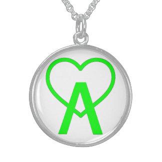 Colar esterlina verde elétrica de A~Heart