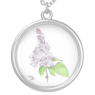 Colar floral do esboço do Lilac