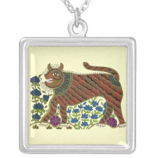 Colar indiana abstrata do tigre
