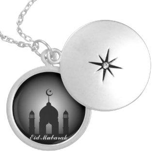 Colar Medalhão Abóbada da mesquita e silhueta do minarete