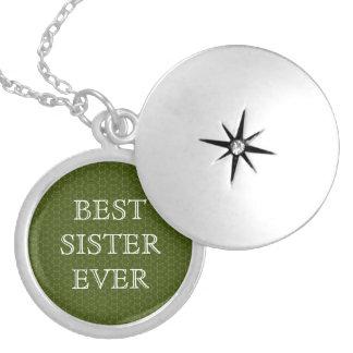 Colar Medalhão As melhores estrelas do verde da irmã nunca e
