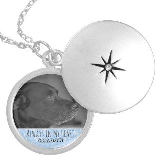 Colar Medalhão Azul memorável do Locket | da lembrança da foto do