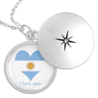 Colar Medalhão Bandeira de Argentina