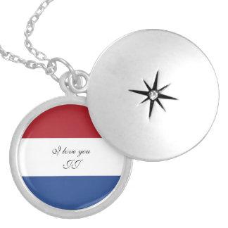 Colar Medalhão Bandeira de Países Baixos