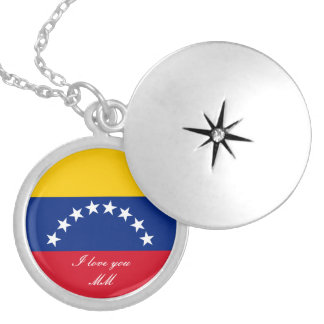 Colar Medalhão Bandeira de Venezuela