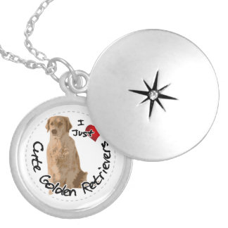 Colar Medalhão Cão engraçado & bonito adorável feliz do golden