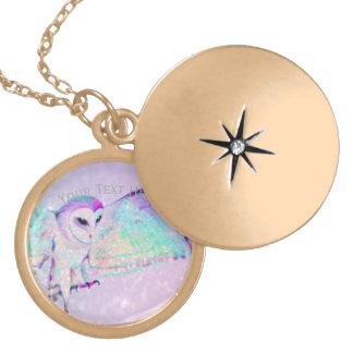Colar Medalhão Coruja majestosa