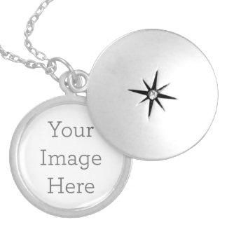 Colar Medalhão Criar seu próprio Locket chapeado prata