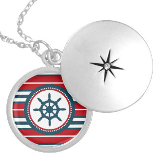 Colar Medalhão Design náutico