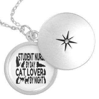 Colar Medalhão Enfermeira de estudante do amante do gato