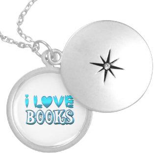 Colar Medalhão Eu amo livros