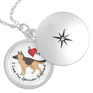 Colar Medalhão Eu amo meu cão de german shepherd