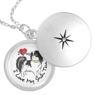 Colar Medalhão Eu amo meu cão de Shih Tzu
