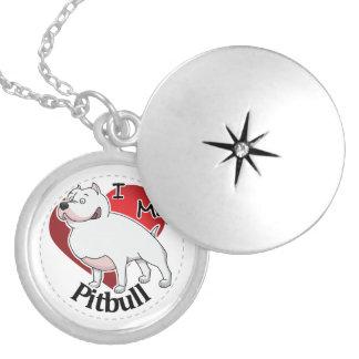 Colar Medalhão Eu amo meu cão engraçado & bonito adorável feliz