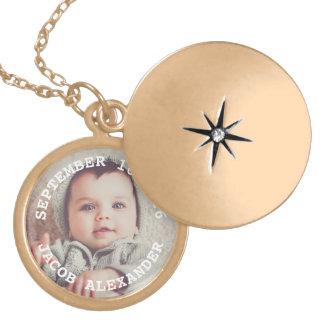 Colar Medalhão Foto simplesmente doce do bebê