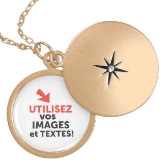 Colar Medalhão Imprimir os vossos desenhos em linha DIY em