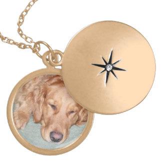 Colar Medalhão Locket bonito, feito sob encomenda da foto, golden