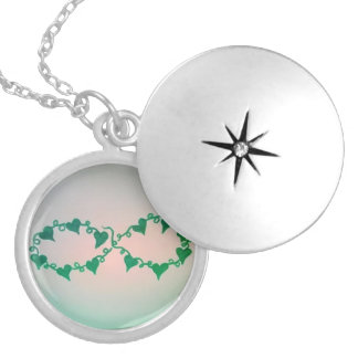 Colar Medalhão Locket da hera do laço de Infinate