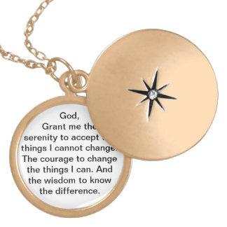 Colar Medalhão Locket da oração da serenidade