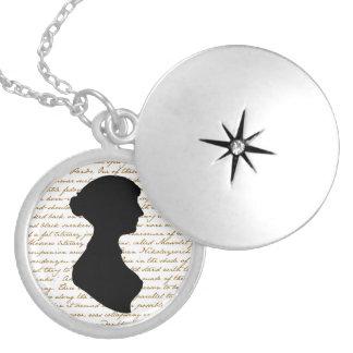 Colar Medalhão Locket de Jane Austen