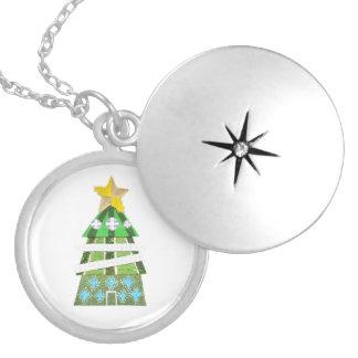 Colar Medalhão Locket do hotel da árvore de Natal