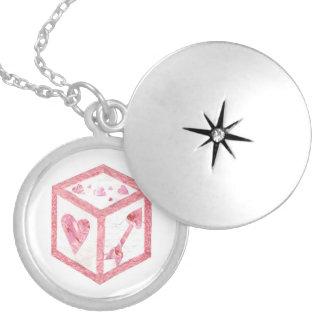 Colar Medalhão Locket dos dados do amor