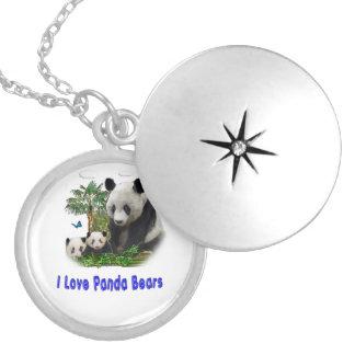 Colar Medalhão Mercadoria do urso de panda