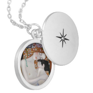 Colar Medalhão Meu Klimt Serie: Mãe & criança