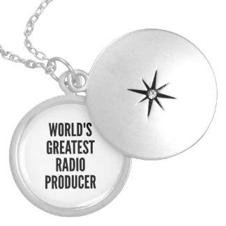 Colar Medalhão O grande produtor de rádio dos mundos