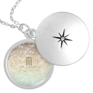 Colar Medalhão Ouro combinado ID435 do Opal do inclinação do