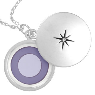 Colar Medalhão Ponto do Lilac