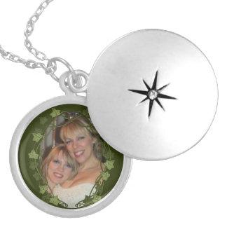Colar Medalhão Quadro da foto do círculo da hera