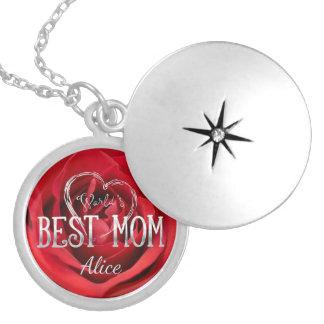Colar Medalhão Rosa vermelha da mamã | do mundo a melhor