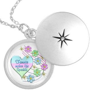 Colar Medalhão Sparkles do tênis