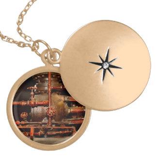 Colar Medalhão Steampunk - sonhos de tubulação