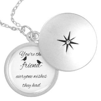 Colar Medalhão Você é o amigo que todos deseja que tiveram