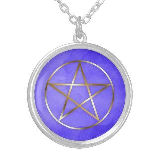 Colar oculto da estrela do Pentagram do ouro