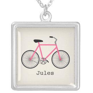 Colar personalizada bicicleta do rosa quente