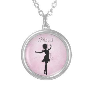 Colar personalizada da silhueta da bailarina
