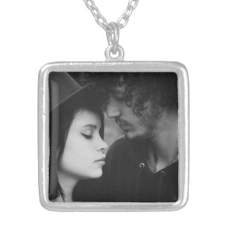 Colar personalizada do encanto da foto do casal
