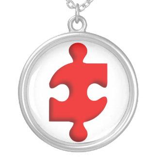 Colar Pingente Grande Puzzle Pieces S