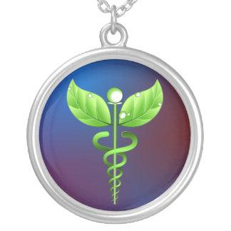 Colar redonda da medicina alternativa do Caduceus