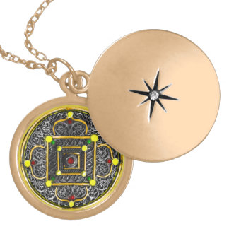 Colar redonda do locket