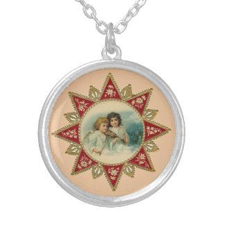 Colar redonda dos anjos do Victorian