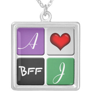 Colar roxa & verde da amizade de BFF