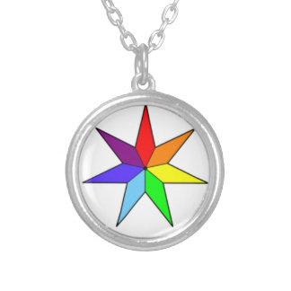 Colar Sete-Aguçado da estrela do arco-íris