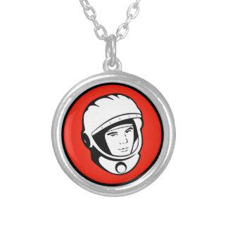 Colar soviética vermelha da prata do cosmonauta